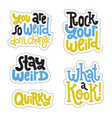 weird and beautiful sticker set design template vector image
