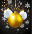 white and golden decorations on a black background vector image vector image