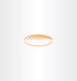 white bread logo icon vector image vector image