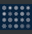 winter snowflakes icon vector image