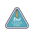 work father day badge sticker logo icon design vector image