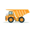 yellow dump truck with big empty body and small vector image vector image