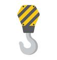 crane hook flat icon build and repair vector image