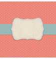 Retro Pastel Label vector image