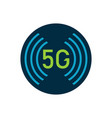 5g logo design high speed internet connection vector image