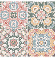 a collection of ceramic tiles in retro colors vector image vector image