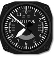 aviation airplane altimeter vector image