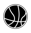 basketball ball isolated icon vector image vector image