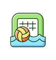 beach soccer rgb color icon vector image