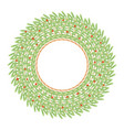 big green wreath made of wild daphne branches vector image vector image