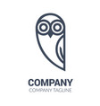black and white owl logo templates vector image