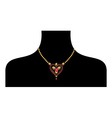 black female silohuette with golden neckless vector image