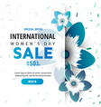 bright spring banner international womens day vector image
