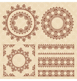 brown vintage ornaments and frames vector image