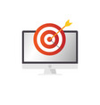 business target with arrow goal symbol vector image