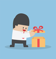 Businessman opened the gift box vector image vector image