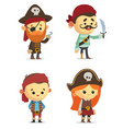 cartoon pirates vector image