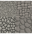 cartoon stone wall seamless set vector image