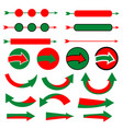 christmas arrow icon set on white background vector image