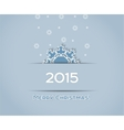 Christmas background snowflake vector image vector image