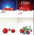 christmas design background collection vector image vector image