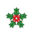 christmas-holly vector image
