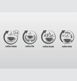 coffee time gray symbols set vector image