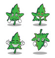 collection set of marijuana character cartoon vector image vector image