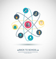 Concept Back to school Flat design vector image vector image