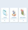 digital books website and mobile app vector image
