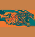 eagle fighting a snake serpent style vector image