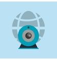 earth globe diagram with webcam icon vector image vector image