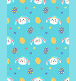 easter seamless pattern with carrot and rabbit vector image