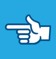 Finger point icon