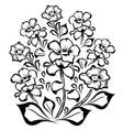 flower group black outline vector image vector image