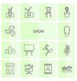 grow icons vector image vector image