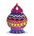 happy diwali festival ornament decoration vector image vector image