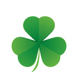 happy saint patricks day shamrock leaf isolated vector image vector image