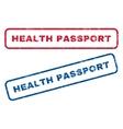 Health Passport Rubber Stamps vector image