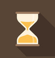 hourglass icon with long shadow vector image vector image