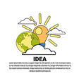 idea creative new project plan concept banner with vector image