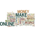 little known ways to make qucik money online text vector image vector image