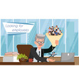 looking for employees flat vector image vector image