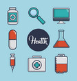 medical equipment design vector image vector image