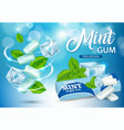 mint chewing gum ads realistic vector image