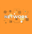 network text concept modern flat style vector image
