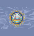 new hampshire silk flag vector image vector image