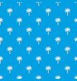palm tree pattern seamless blue vector image vector image