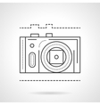 Photo camera line flat line icon vector image