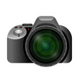 professional modern digital camera with wide short vector image